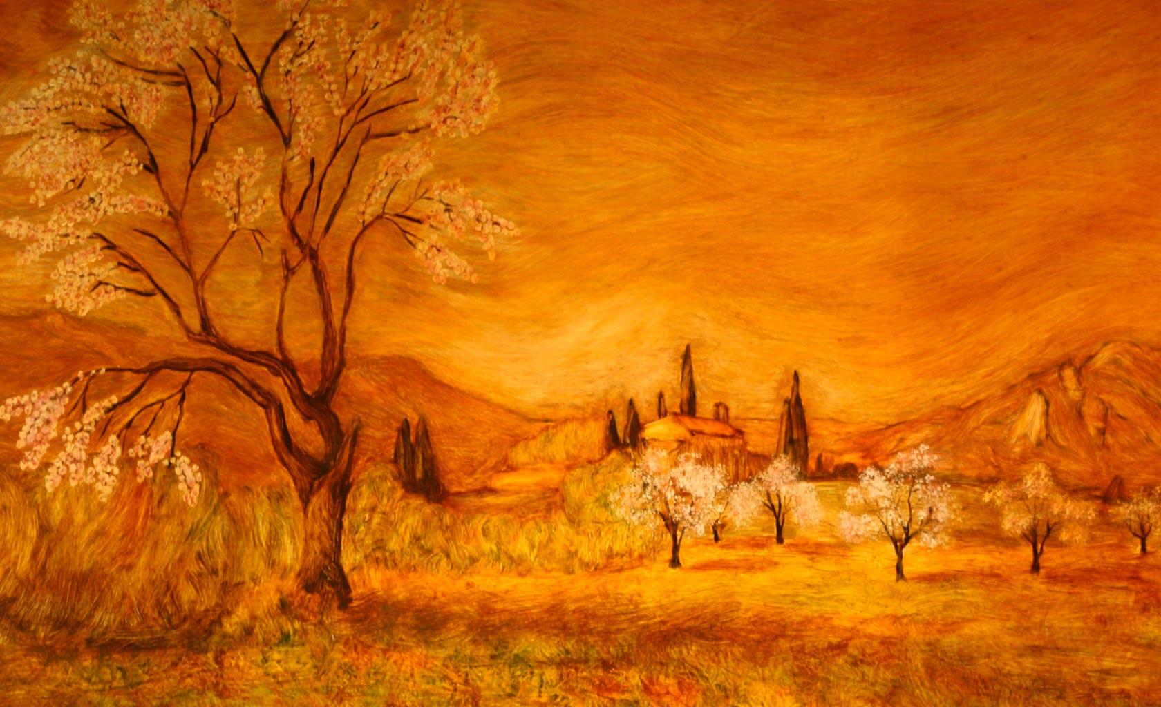 tableau theme peinture paysage