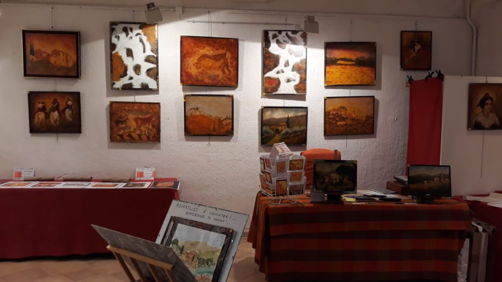 Salle d'expo, galerie des Artisans